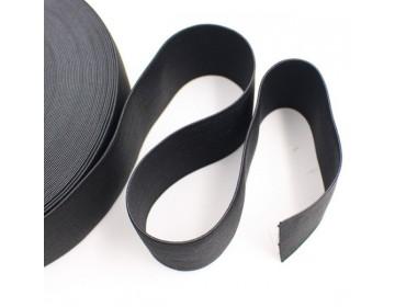 Bande élastique plate pour couture 20 mm - couleur : NOIR