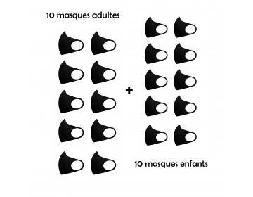 PACK de 20 masques de catégorie 1 (UNS1)