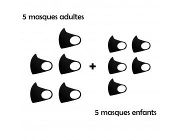 PACK de 10 masques de catégorie 1 (UNS1)