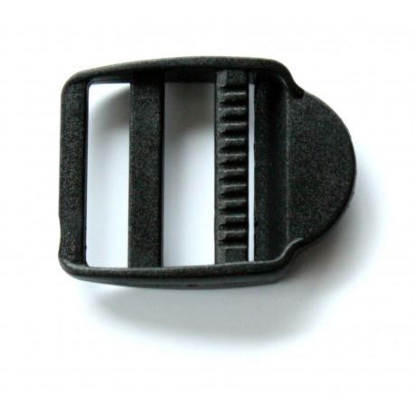 Passant Double + Languette noir 25 mm