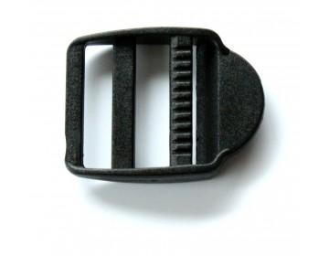 Passant Double + Languette noir 30 mm