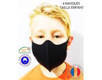PACK de 8 MASQUES RÉUTILISABLES HOMOLOGUÉS